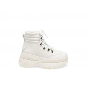 Steve Madden Women's Booties HUSKY WHITE Leather