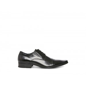 Clearance Sale - Steve Madden Men's Lace-up DEANDRE Black Leather