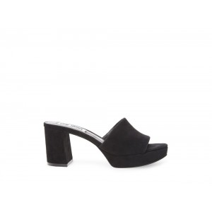 Clearance Sale - Steve Madden Women's Mules HAYES Black Suede