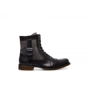 Clearance Sale - Steve Madden Men's Boots SIDETRACK Black Leather