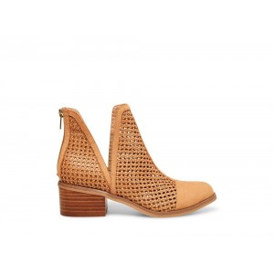 Clearance Sale - Steve Madden Women's Booties HOLLIS Cognac NUBUCK