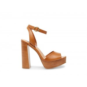 Clearance Sale - Steve Madden Women's Heels MADELINE Cognac Leather