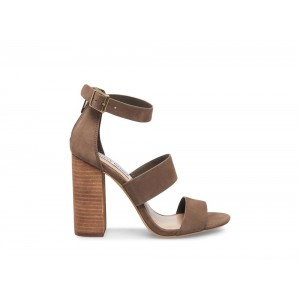 Clearance Sale - Steve Madden Women's Sandals SUNLight Brown NUBUCK