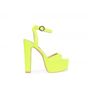 Clearance Sale - Steve Madden Women's Heels SKYLA Yellow Neon