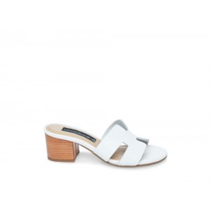 Clearance Sale - Steve Madden Women's Mules FOREVA WHITE Leather