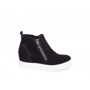 Clearance Sale - Steve Madden Women's Sneakers WEDGIE Black Suede