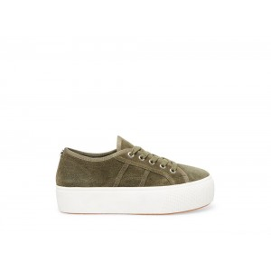 Steve Madden Women's Sneakers EMMI-S OLIVE Suede Black Friday 2020