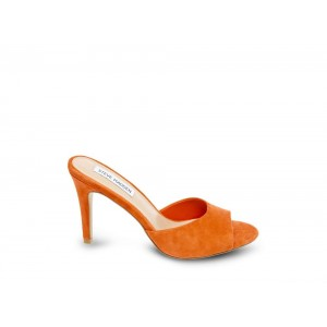 Clearance Sale - Steve Madden Women's Mules ERIN ORANGE Suede