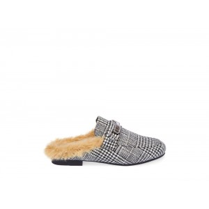 Clearance Sale - Steve Madden Women's Mules KHLOE Grey PLAID