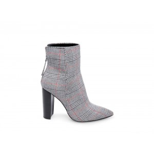 Steve Madden Women's Booties TRISTA Grey PLAID Black Friday 2020