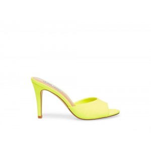 Clearance Sale - Steve Madden Women's Mules ERIN Yellow Neon