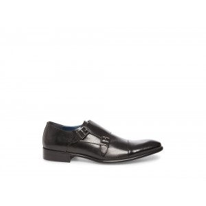 Steve Madden Men's Dress BOWEN Black Leather