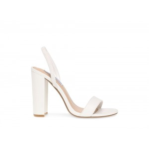 Clearance Sale - Steve Madden Women's Heels CAMEO WHITE Leather