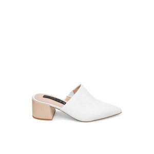 Steve Madden Women's Mules FLORIN WHITE Leather Black Friday 2020