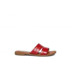 Steve Madden Women's Sandals ALEXANDRA Red CROCODILE Black Friday 2020