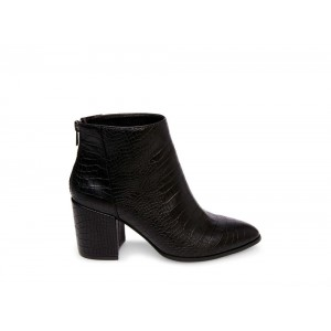 Christmas Deals 2019 - Steve Madden Women's Booties JILLIAN Black CROCODILE