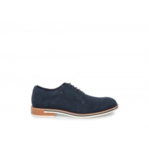 Steve Madden Men's Dress STAMP Navy Suede