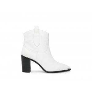 Steve Madden Women's Booties ZORA WHITE Leather Black Friday 2020