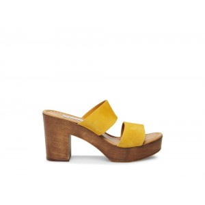 Clearance Sale - Steve Madden Women's Heels FRANCESCA Yellow Suede