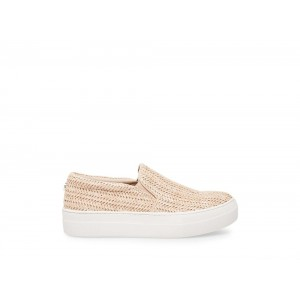 [ Black Friday 2019 ] Steve Madden Women's Sneakers GILLS NATURAL RAFFIA