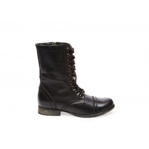 Clearance Sale - Steve Madden Women's Booties TROOPA Black Leather