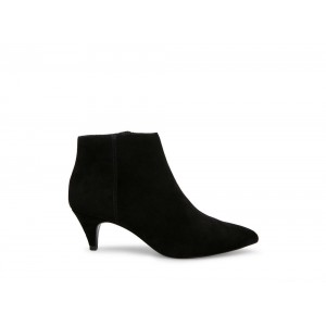 Steve Madden Women's Booties KASEY Black Suede Black Friday 2020