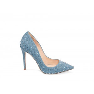 Steve Madden Women's Heels DAISIE-S DENIM FABRIC