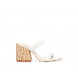Clearance Sale - Steve Madden Women's Heels MARCELLA WHITE Leather
