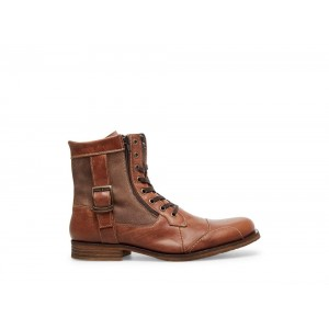 Clearance Sale - Steve Madden Men's Boots SIDETRACK Cognac Leather