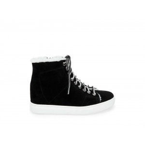 Clearance Sale - Steve Madden Women's Sneakers SUNNY Black Suede