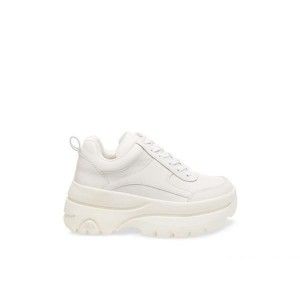 Clearance Sale - Steve Madden Women's Sneakers HANSEL WHITE Leather