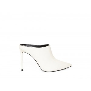 Clearance Sale - Steve Madden Women's Mules DONALDA WHITE Leather