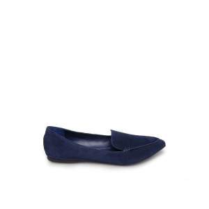 Steve Madden Women's Flats FEATHER Navy Suede