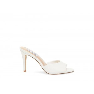 Clearance Sale - Steve Madden Women's Mules ERIN WHITE Leather