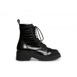 Clearance Sale - Steve Madden Women's Booties TORNADO Black CROCODILE