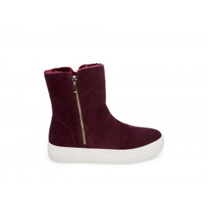 Christmas Deals 2019 - Steve Madden Women's Sneakers GARRSON BURGUNDY Suede