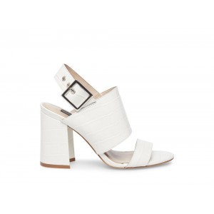 Clearance Sale - Steve Madden Women's Heels REMINGTON WHITE CROCODILE