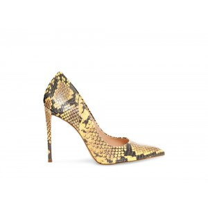 Clearance Sale - Steve Madden Women's Heels VALA Yellow Snake