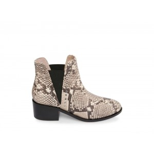 Steve Madden Women's Booties CADE NATURAL Snake