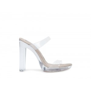 Clearance Sale - Steve Madden Women's Heels GLASSY CLEAR