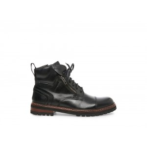 Clearance Sale - Steve Madden Men's Boots SHIPPER Black Leather