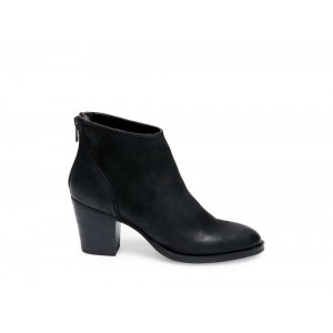 Steve Madden Women's Booties RANDI Black Leather