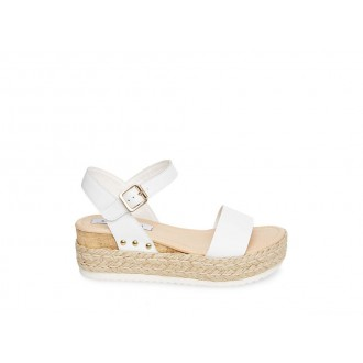 Clearance Sale - Steve Madden Women's Sandals CHIARA WHITE Leather