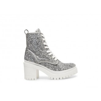 Clearance Sale - Steve Madden Women's Booties BLOOM SILVER GLITTER