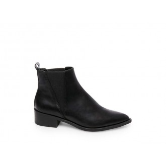 Steve Madden Women's Booties JERRY Black Leather Black Friday 2020