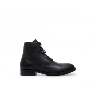 Clearance Sale - Steve Madden Men's Boots BUDDY Black Leather