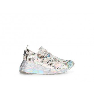 Clearance Sale - Steve Madden Women's Sneakers CLIFF SILVER Snake