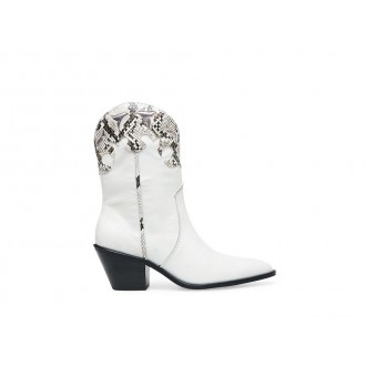 Christmas Deals 2019 - Steve Madden Women's Boots HOWDY WHITE Leather