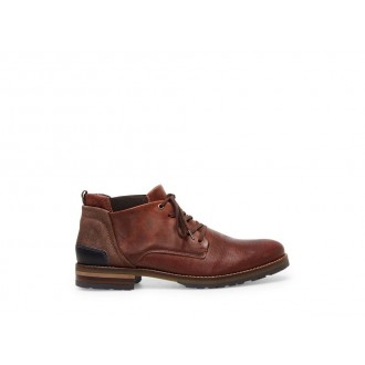 Steve Madden Men's Boots PLYMOUTH Brown/Red Leather