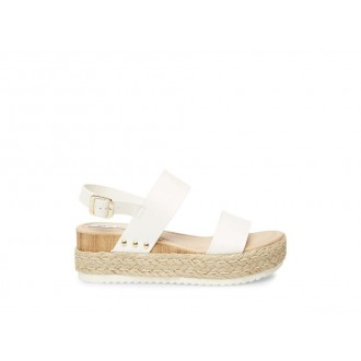 Clearance Sale - Steve Madden Women's Sandals CICI WHITE Leather
